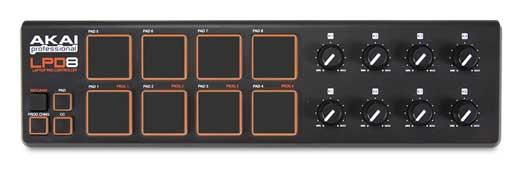 Akai Professional LPD8 USB MIDI Laptop Drum Pad Controller LPD-8
