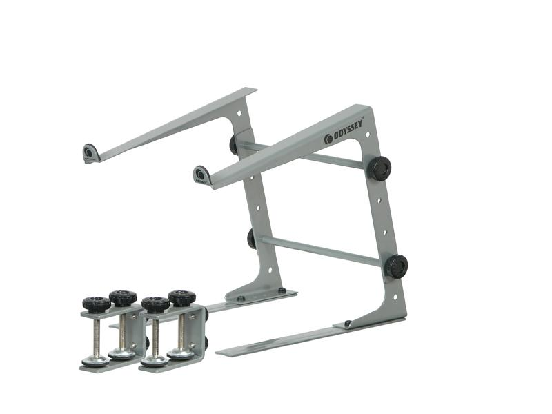 Odyssey LSTAND DJ Laptop Stand with Clamps - Metallic Grey
