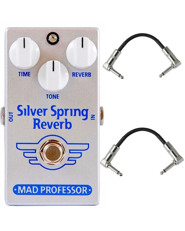 Mad Professor Silver Spring Reverb Guitar Effects Pedal with Patch Cables