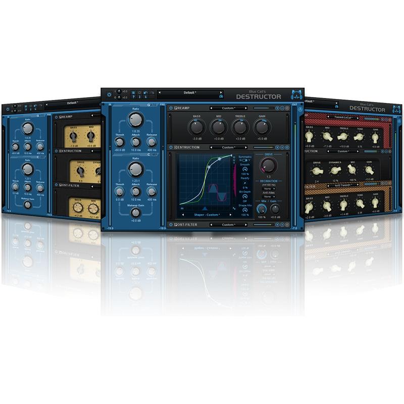 Blue Cat Audio Destructor Distortion and Amp Modeling Software Plug-In (Download)