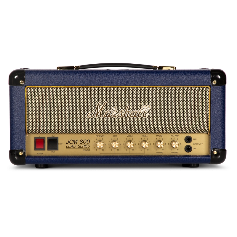 "Marshall SC20H 20W All-Tube ""2203"" Guitar Amp Head With Fx Loop And DI, Navy Blue Levant"