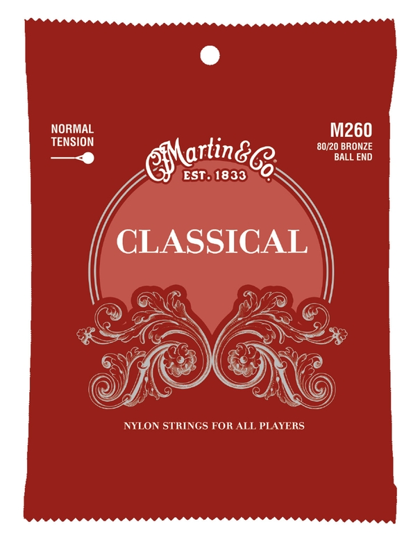 Martin M260 80/20 Bronze Ball-End Regular Tension Nylon Classic Guitar Strings (28-43)