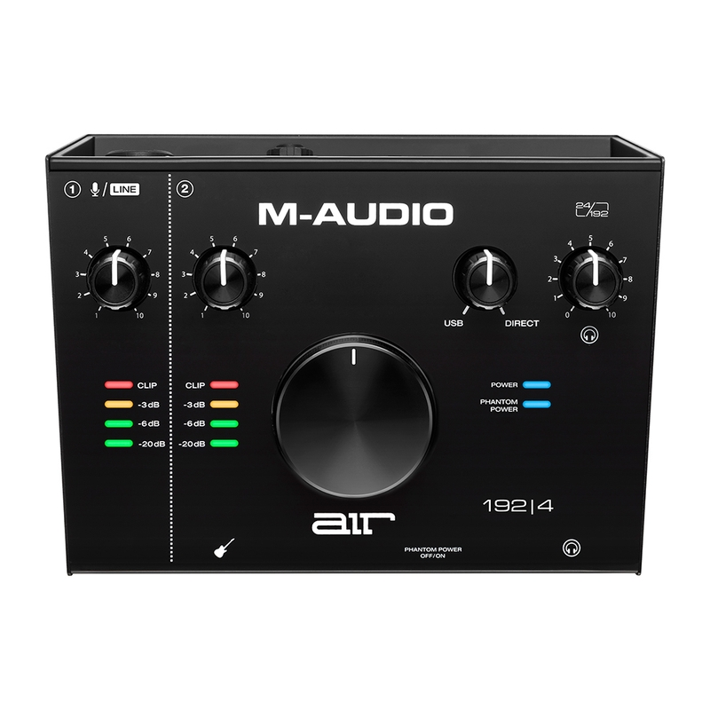 M-Audio AIR 192|4 192 4 2-In/2-Out 24/192 USB Audio Recording Studio Interface