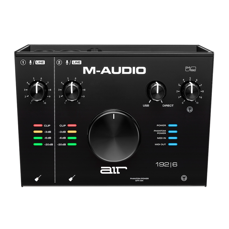 M-Audio AIR 192|6 192 6 2-In/2-Out 24/192 USB Audio/MIDI Recording Interface