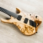 Mayones Hydra Elite 6 VF Multi-Scale Headless Guitar, Natural, Eye Poplar Top, Bare Knuckle Pickups