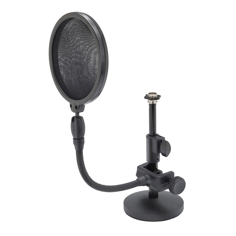 Samson MD2/PS05 Bundle Desktop Microphone Stand and Microphone Pop Filter