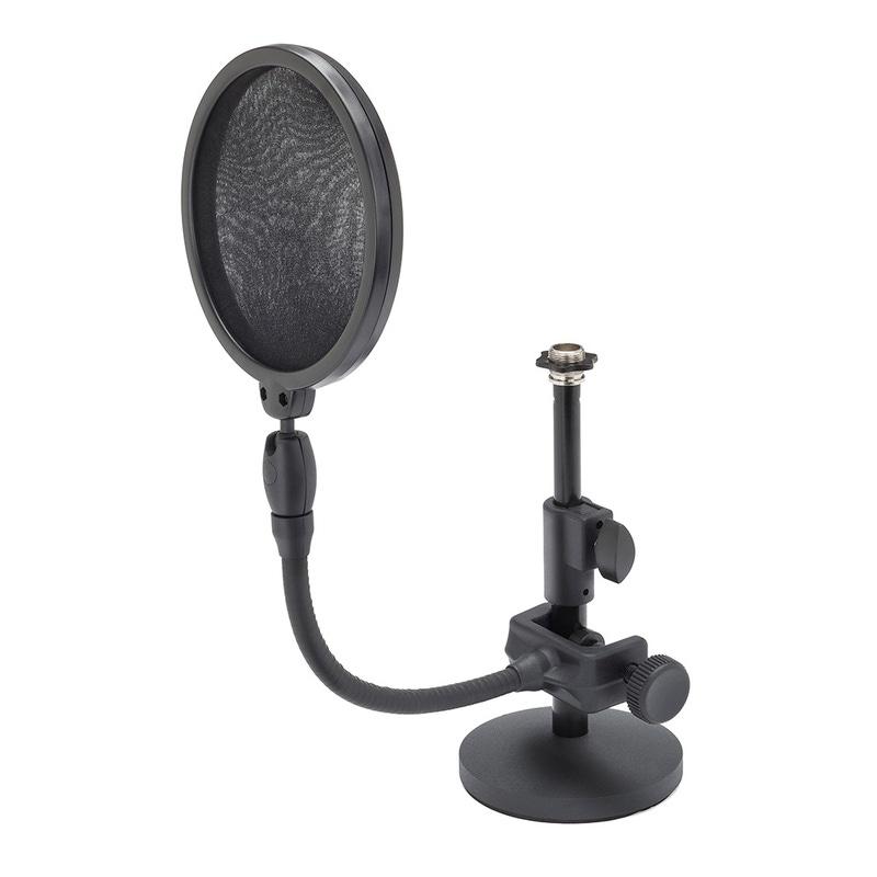 Samson MD2/PS05 Bundle Desktop Microphone Stand and Microphone Pop Filter