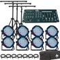 American DJ Mega Par Profile 8 Pack with DMX Cables and Chauvet Obey 4 DMX Controller Lighting System
