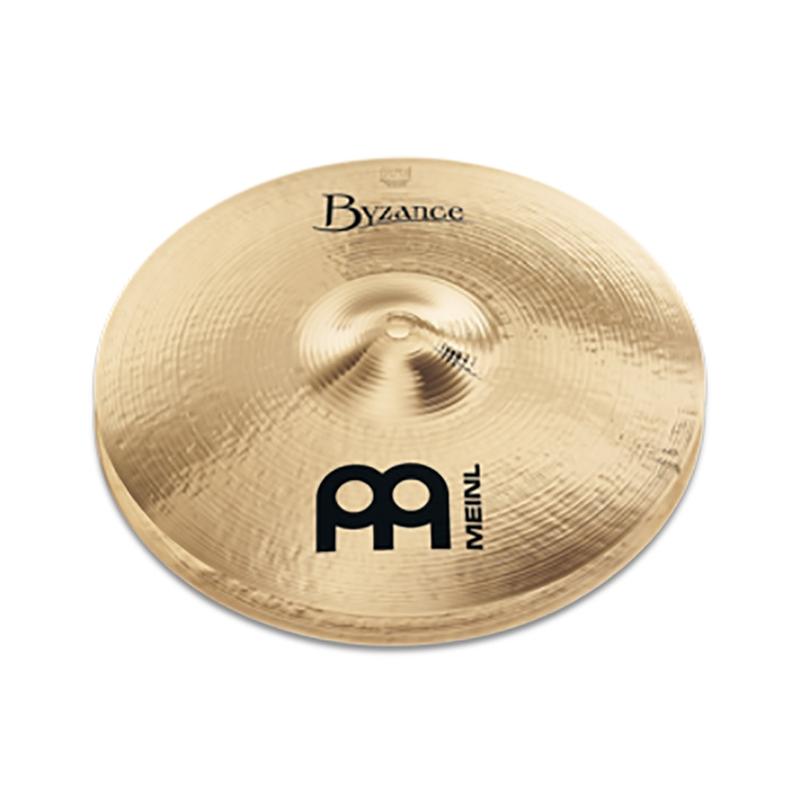 Meinl USA B14HH-B Byzance Brilliant Heavy Hi-Hat Cymbal Set, 14''