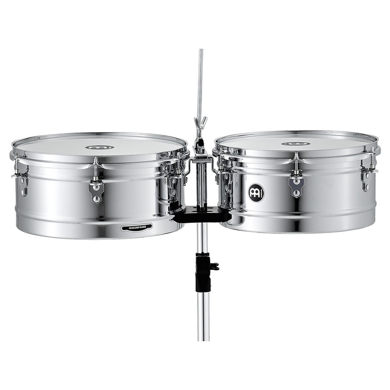 "Meinl Percussion HT1314CH Headliner Series Timbales, Chrome, 13"" / 14"""