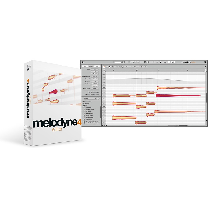 Celemony Melodyne 4 ASSISTANT to EDITOR UPGRADE Pitch and Time Shifting Software (Electronic Delivery)
