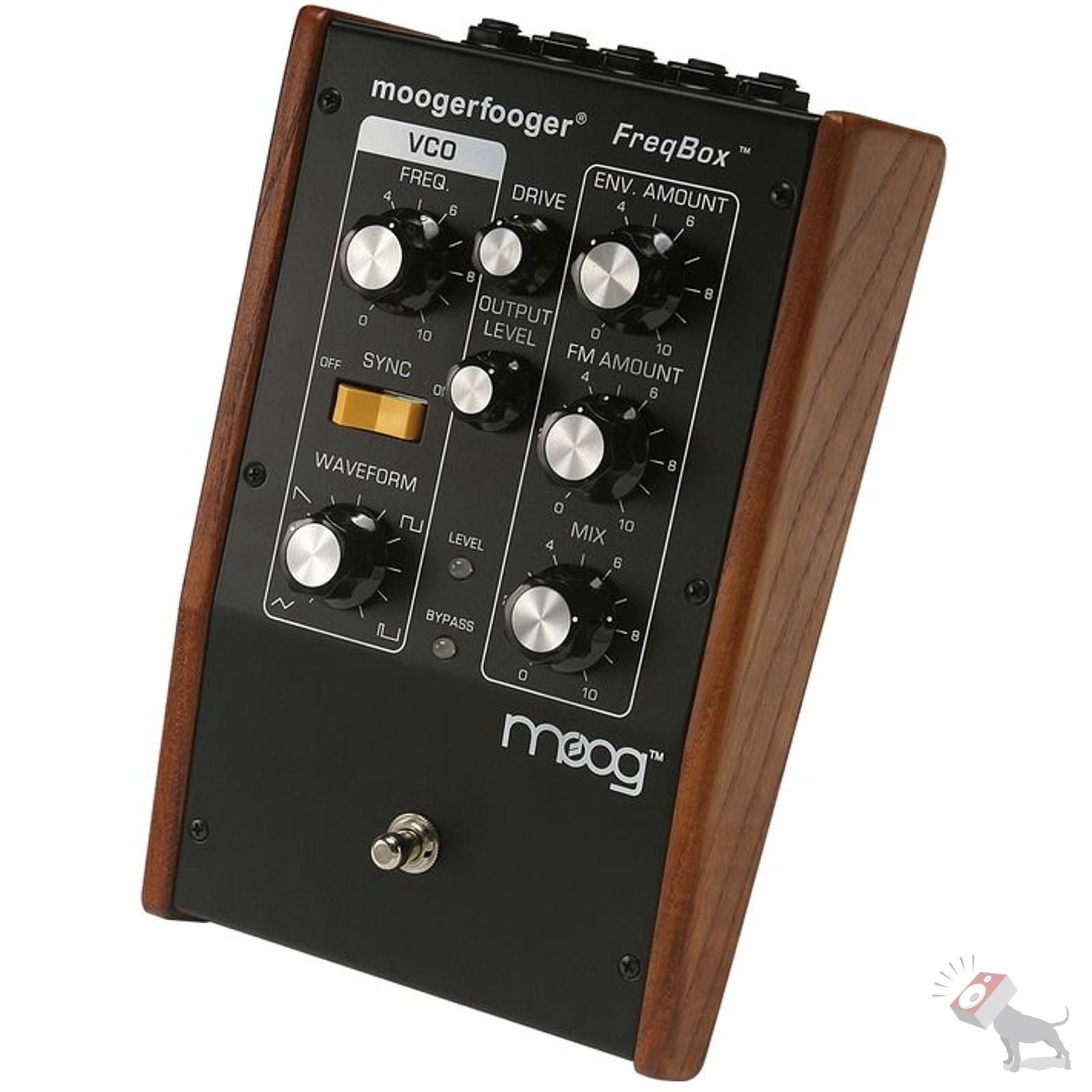 moog mf 107 moogerfooger freqbox guitar bass keyboard synth effects pedal mf107 ebay. Black Bedroom Furniture Sets. Home Design Ideas
