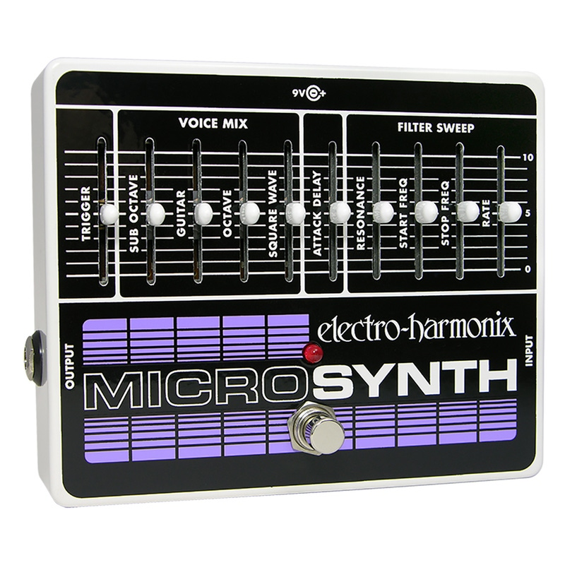 Electro-Harmonix MicroSynth Guitar Effects Micro Synthesizer Pedal