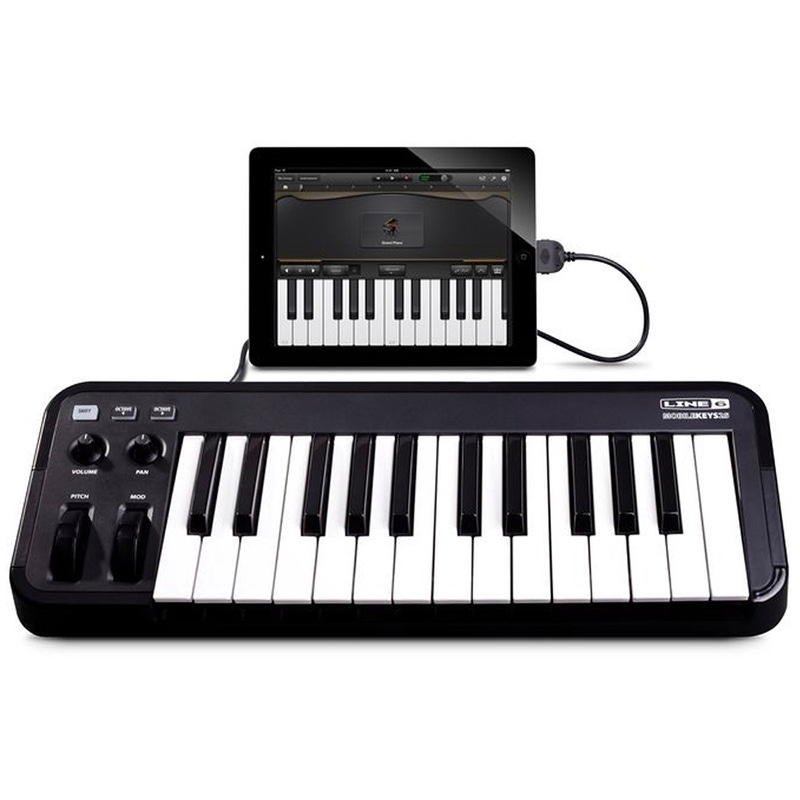 Line 6 Mobile Keys 25 Premium Keyboard MIDI Controller for Mobile iOS Devices