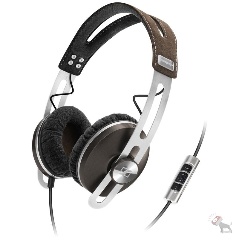Sennheiser Momentum Media Performance On-ear Leather Headphones (Brown)