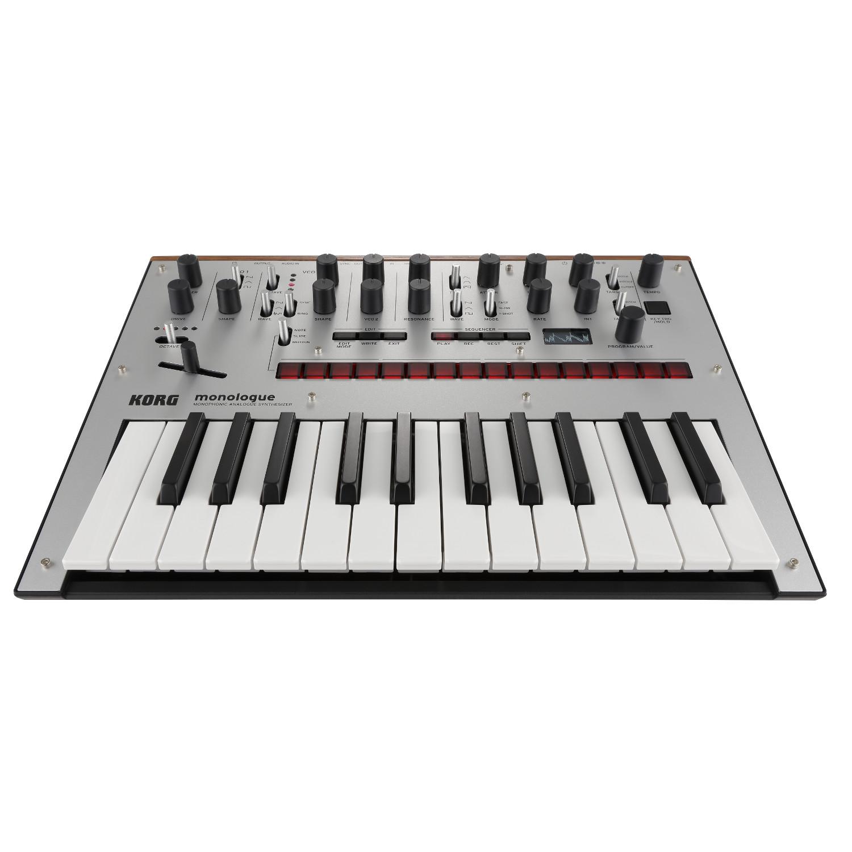 pitbull audio korg monologue monophonic analog synthesizer silver. Black Bedroom Furniture Sets. Home Design Ideas