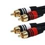 Monoprice 5350 Premium 2 RCA Plug/2 RCA Plug M/M 22AWG Cable Black (100 ft)