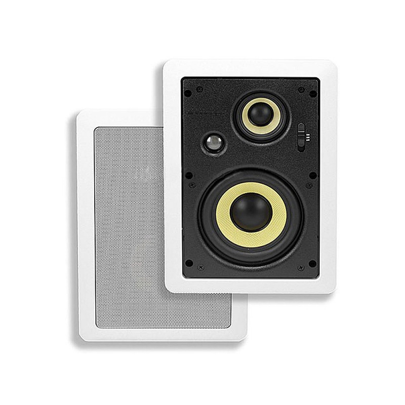 Monoprice 7607 6-1/2 Inches 3-Way High Power In-Wall Speaker (Pair)