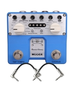 Mooer Reverie Chorus Twin Series Digital Chorus Guitar Effects Pedal with Patch Cables