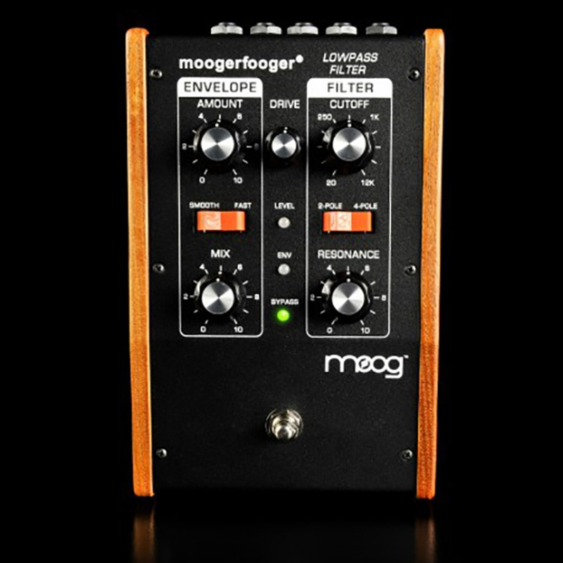 Moog MF101 Moogerfooger Low Pass Filter Effects Pedal in Black for Guitar, Bass, and Synth