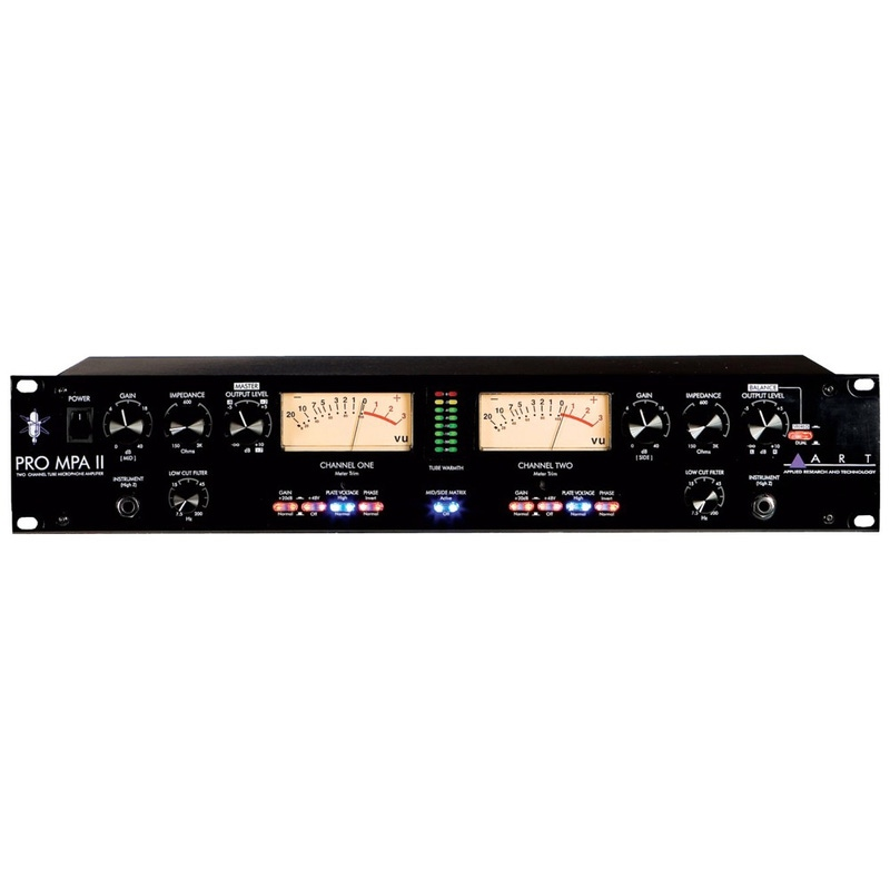 ART Pro Audio Pro MPA-II Two Channel Microphone Preamp, 115V