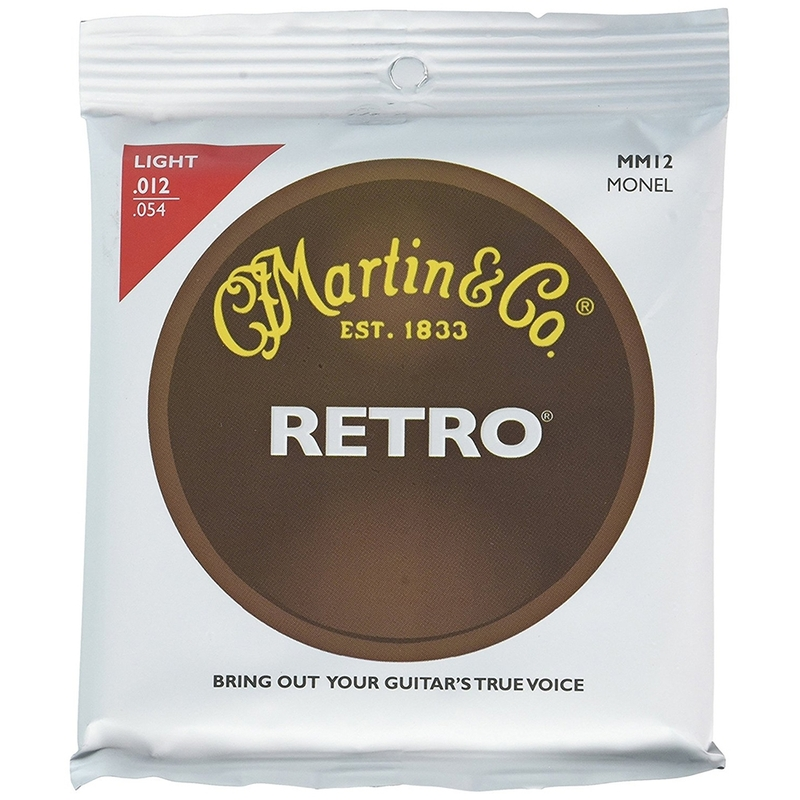 Martin MM12 Retro Acoustic Guitar Strings, Light (12-54)