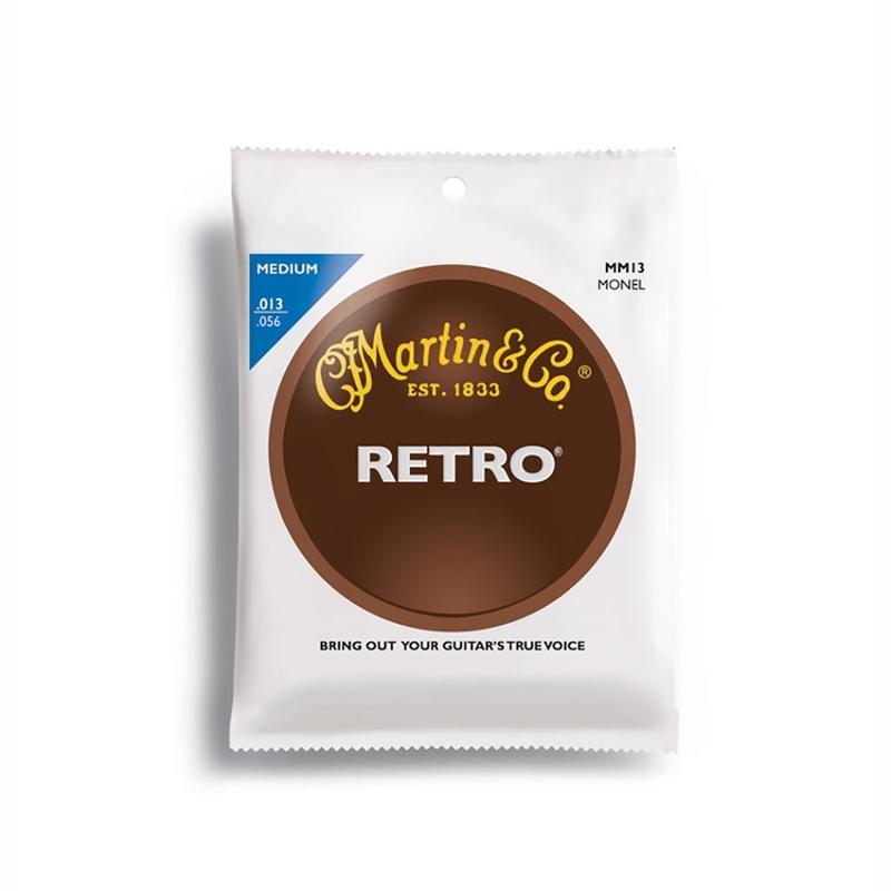 Martin MM13 Retro Acoustic Guitar Strings, Medium (13-56)