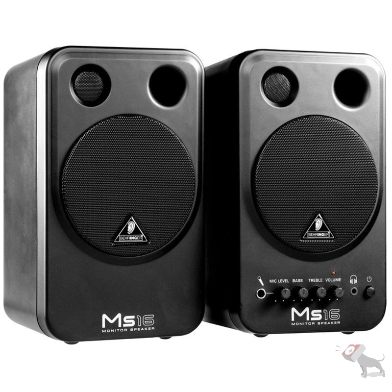 Behringer MS16 Active Powered Home Studio Speaker Monitor System Pair MS-16
