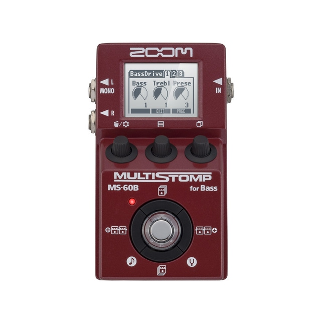 Zoom MS-60B Bass Stomp Box and Multi-Effects Pedal