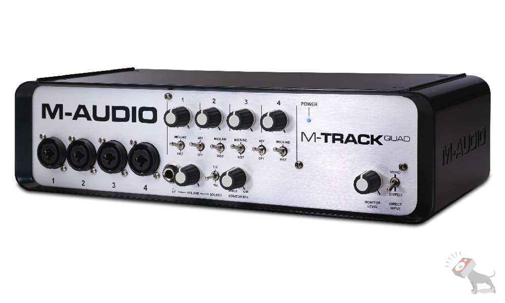M-Audio M-Track Quad Four-Channel Audio MIDI USB Interface with Ignite Software
