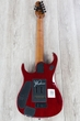 Ernie Ball Music Man BFR John Petrucci JP15 7 String Guitar, Spalted Maple Top, Blood Orange Burst