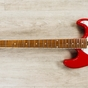 Ernie Ball Music Man BFR Cutlass Guitar, Figured Roasted Maple Neck, Scarlet Red