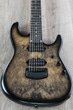 Ernie Ball Music Man Jason Richardson 7-String Cutlass Guitar, Natural Buckeye Burl