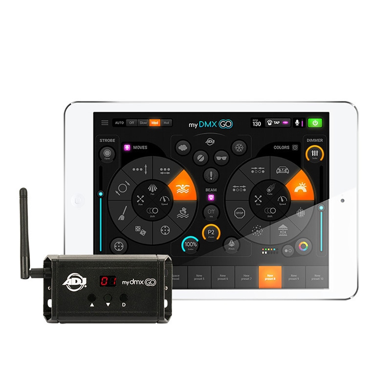 ADJ American DJ mydmx GO Lighting Control System for iPad, Android or Amazon Fire Tablet