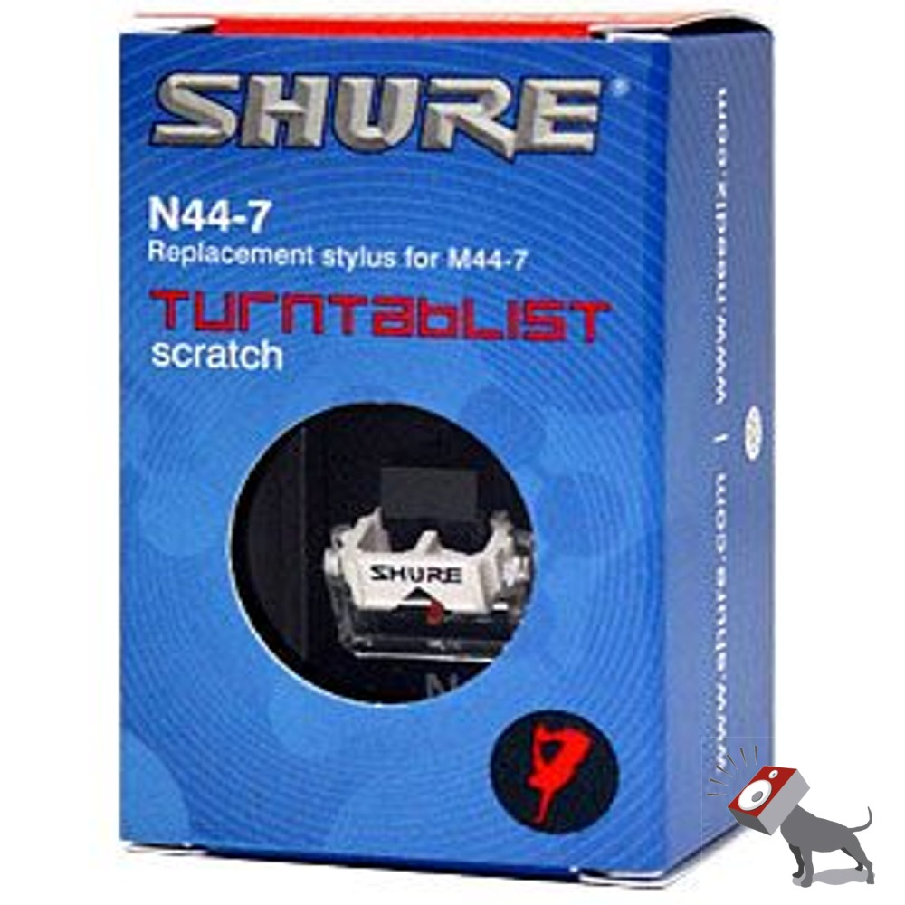shure n44 7 pro dj turntable replacement stylus styli needle for m44 7 cartridge ebay. Black Bedroom Furniture Sets. Home Design Ideas