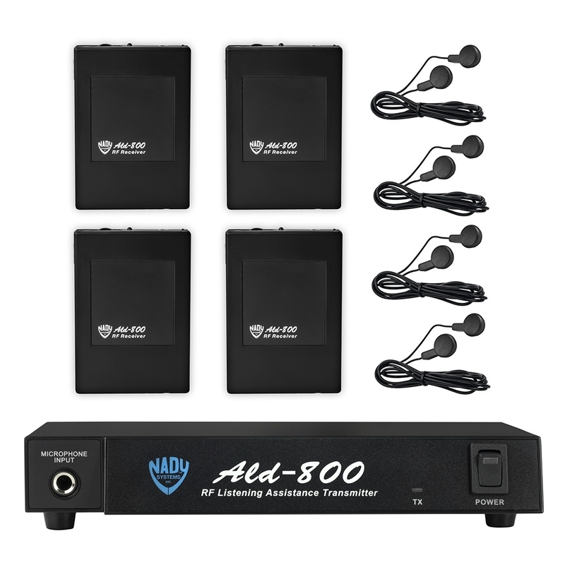 Nady ALD-800 Multiple VHF Wireless Assistive Listening System; HH (75.9 MHz)