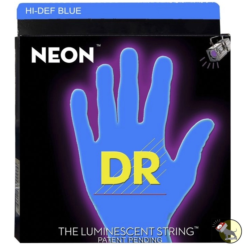 DR Strings NBB-40 Neon Hi-Def Blue Coated Lite Electric Bass Strings (40-100)