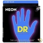 DR Strings NBB5-45 Neon Blue 5-String Coated Medium Electric Bass Strings (45-125)