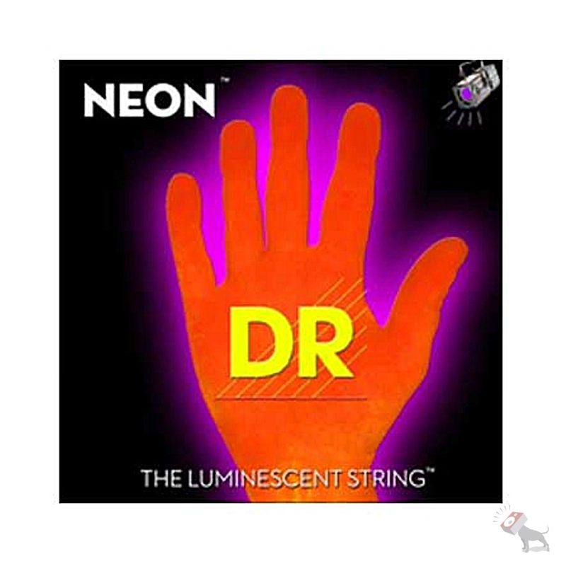 DR NOB-40 K3 Neon Orange Coated Lite 4-String Electric Bass Strings (40-100)