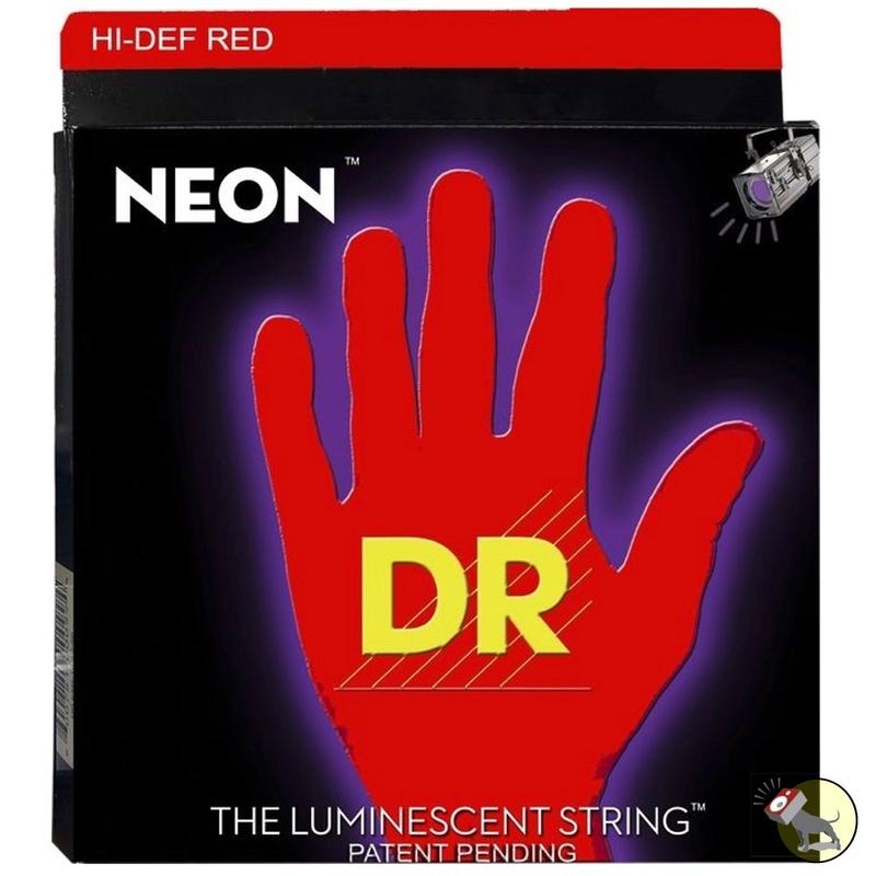 DR Strings NRB6-30 K3 Neon Hi-Def Red Coated 6-String Electric Bass Strings (30-125)