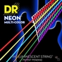 DR Strings NMCE-11 K3 Neon Multi-Color Coated Heavy Electric Guitar Strings (11-50)