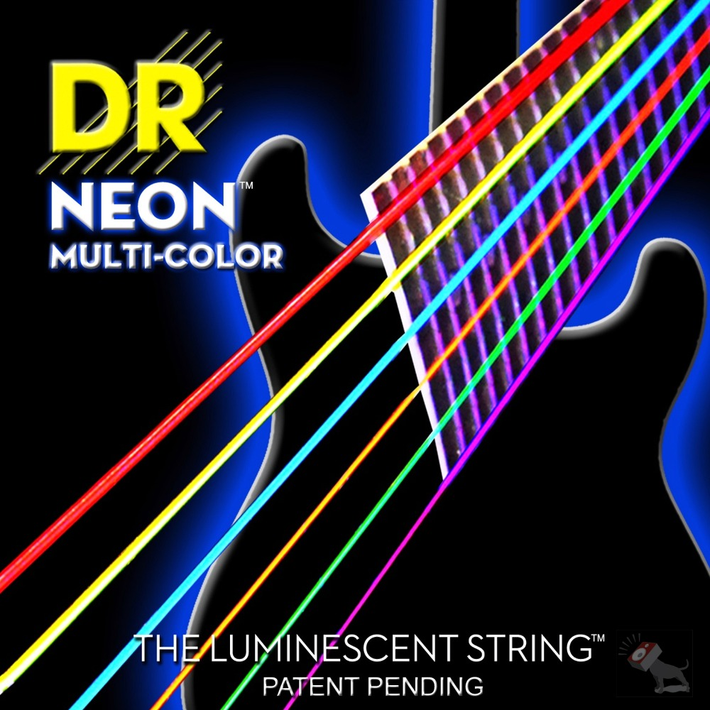 black neon electric guitar - photo #38