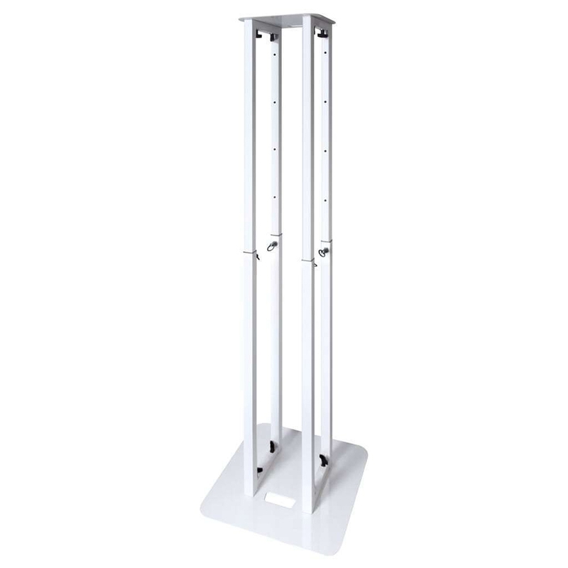 "Mixware Novopro PS1 XL Adjustable Podium Stand 5'8"" (White)"