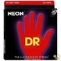 DR Strings NRB-40 K3 Neon Hi-Def Red Coated Lite Electric Bass Strings (40-100)