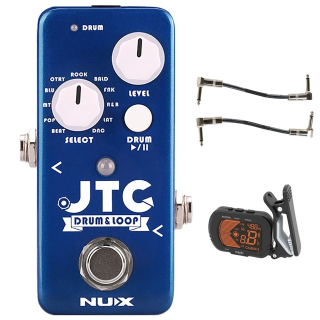 pitbull audio nux jtc jam track creator drum loop mini guitar effects pedal with tuner and. Black Bedroom Furniture Sets. Home Design Ideas