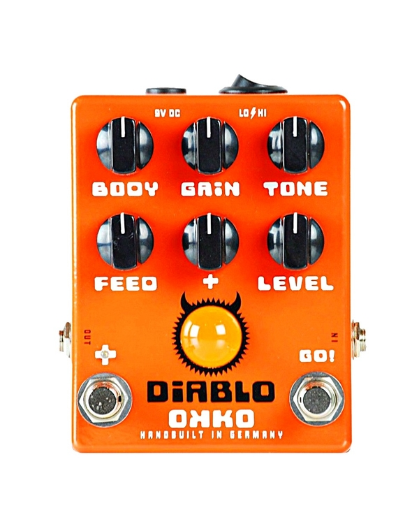 Okko Pedals Diablo Gain Plus Guitar Effects Pedal