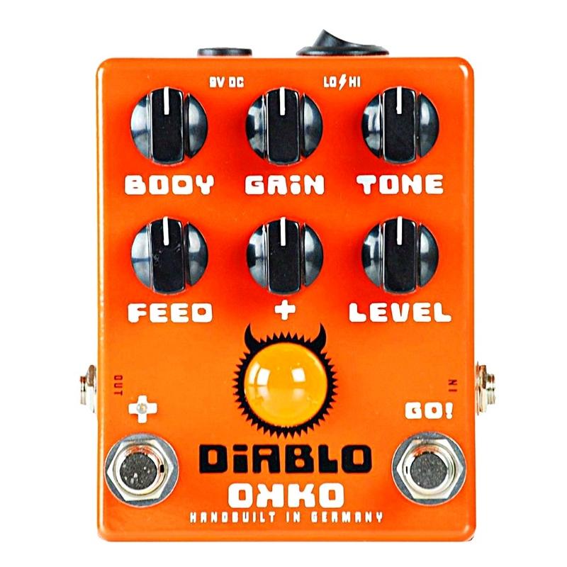 Okko Pedals Diablo Gain Plus Guitar Effects Pedal