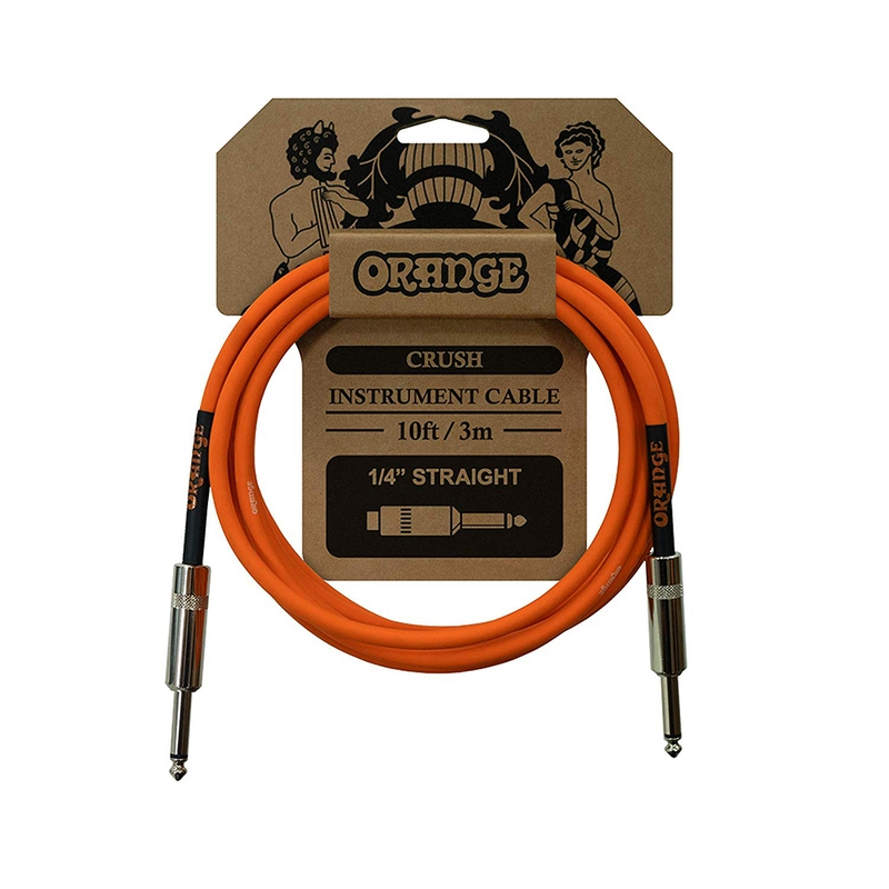 Orange Amplification Crush Instrument Cable, Straight/Straight Connectors, 10ft