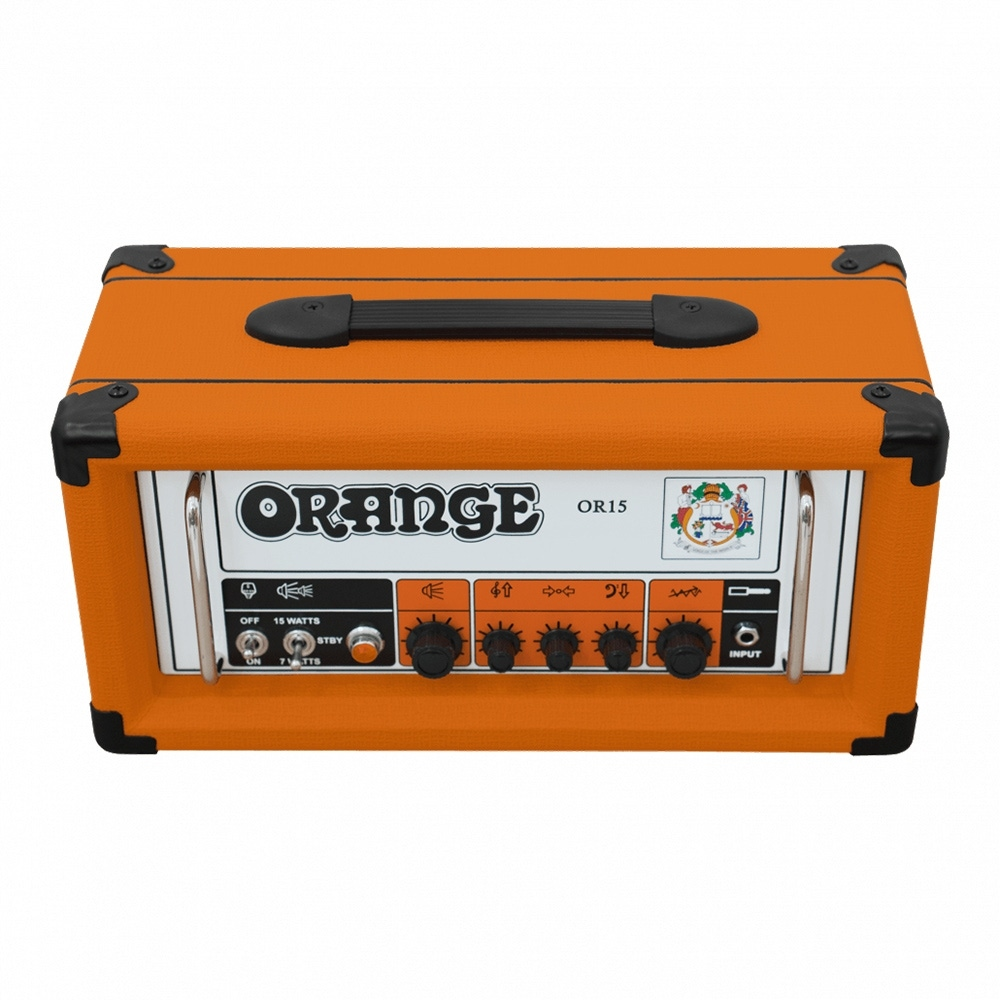 pitbull audio orange amps or15h tube guitar amplifier head 15 watt 1 channel. Black Bedroom Furniture Sets. Home Design Ideas
