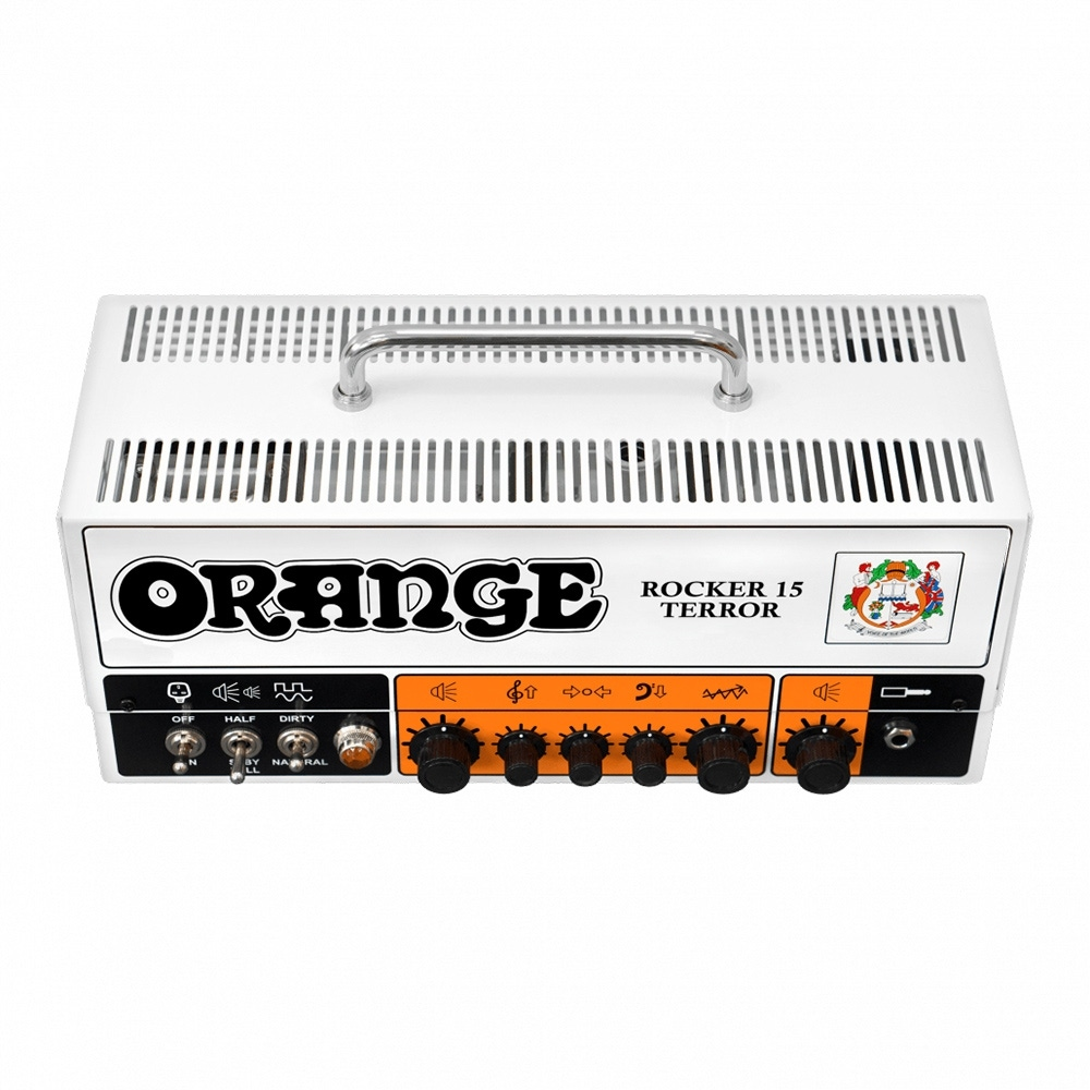 pitbull audio orange amps rocker 15 terror tube guitar amplifier head 15 watt 2 channel. Black Bedroom Furniture Sets. Home Design Ideas